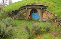 Abandoned movie set from the Lord of the Rings Matamata New Zealand