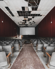 Abandoned movie theater