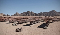 Abandoned movie theater in the middle of the Egyptian desert on the Sinai Peninsula Photo Kaupo Kikkas