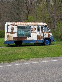 Abandoned Mr Softee Truck stuck in time