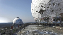 Abandoned National Security Agency listening station on Teufelsberg Hill Germany The base shut down in  after the end of the Cold War