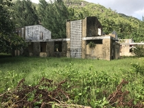 Abandoned National Youth Service Campus Mahe Seychelles My mum and her siblings had to go through here as children and are very happy to see it gone It was a mandatory political indoctrination service children had to go to many years ago