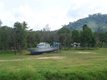 Abandoned Navy ship after the big  Tsunami
