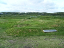 Abandoned Norse settlement at LAnse aux Meadows Newfoundland approximately  years ago