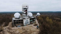 Abandoned NSA listening station Berlin Teufelsberg Hill