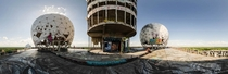 Abandoned NSA listening station in Berlin on the top of the Teufelsberg Devils Mountain
