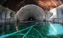Abandoned nuclear shelter for Soviet-era submarines located at Pavlovsk submarine base in Primorye Krai photo by hajoff