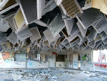 Abandoned office in Potsdam East Germany - That ceiling