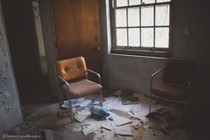 Abandoned office room