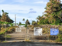 Abandoned Officer Housing of US Naval Base Guam Military working dogs must hide well