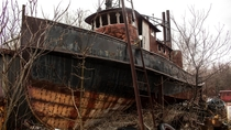 Abandoned Old Decaying Ship
