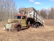 Abandoned Old Farm Truck Northern BC Canada
