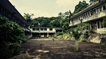 Abandoned old school Hong Kong