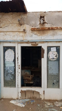 Abandoned old supermarket I found while roaming around Qatarthose were the source of supplies for small villages here