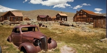 Abandoned old west town Bodie California