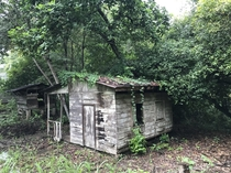 Abandoned old wood house near a river in Santa Rita province of Guanacaste in Costa Rica