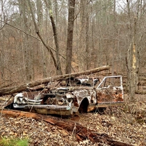 Abandoned Oldsmobile in the middle of some Georgia woodlands