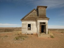 Abandoned one-room church house in Taiban New Mexico