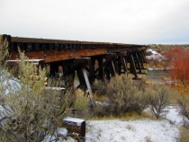 Abandoned Oregon Short Line - Union Pacific Railway Trestle Bridge Southern Idaho