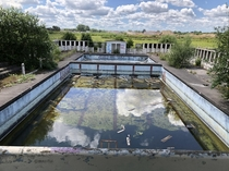 Abandoned outdoor swimming pool  near Douai France