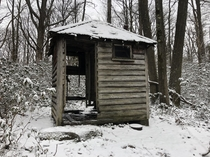 Abandoned outhouse Allegheny national forest
