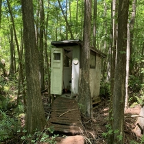 Abandoned outhouse in Fakahatchee Strand in Florida