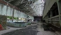 Abandoned paper mill Lombardy Italy