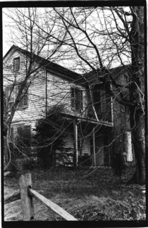 Abandoned Pennsylvania home - bampw filmprinted in a darkroom circa  - does anyone recognize this place