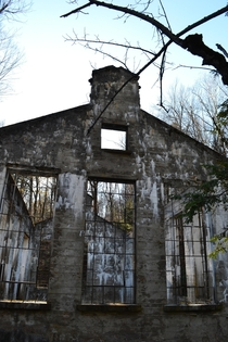 Abandoned phosphate fertilizer plant Carbide Willson Ruins in Chelsea Quebec