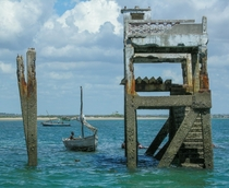 Abandoned pier colonial era in Mossuril Bay Mozambique