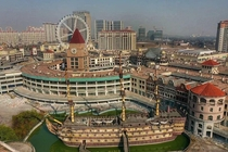 Abandoned Pirate Ship amp Ferris Wheel - Outlet Mall Near Shanghai