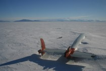 Abandoned plane buried by snow
