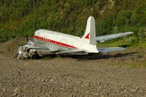 Abandoned plane in Ganes Creek Alaska x
