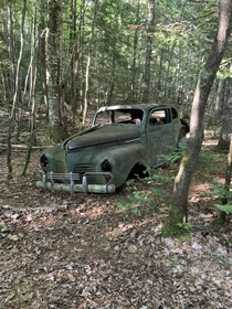 Abandoned  Plymouth I found while backpacking through pictures rocks