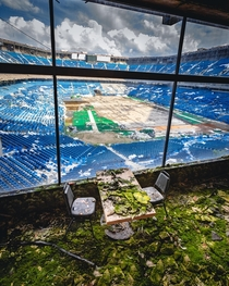 Abandoned Pontiac Silverdome Former home of NFLs Detroit Lions