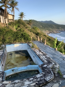 Abandoned pool in a beach house in Brazil