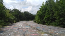 Abandoned portion of Highway  outside of Centralia Pennsylvania Otherwise known as the Graffiti Highway