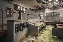 Abandoned power plant control room  by dimitri_ca