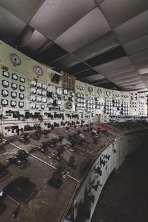 Abandoned Power Plant Control Room Summer  OC