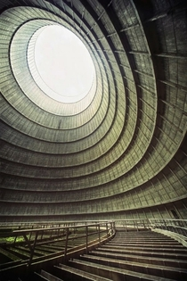 Abandoned power plant cooling chamber - photo by Richard Gubbels
