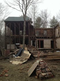 Abandoned Pre-Revolutionary War home being torn down and stripped in Dover New Hampshire  Album in comments