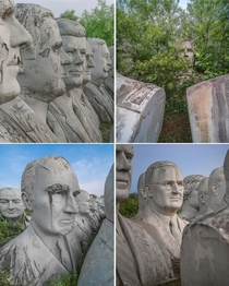 Abandoned president statues decaying away Virginia A farmer bought them from a local museum at  when a museum was being demolished And theyve been sitting there ever since