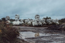Abandoned Presidential heads in rural- Williamsburg Virginia