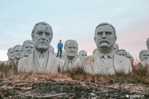 Abandoned Presidents Monument at sunrise