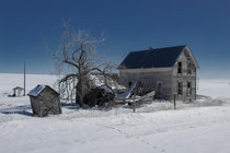 Abandoned property in Eastern Wa - Had to walk a mile in the snow to get to it