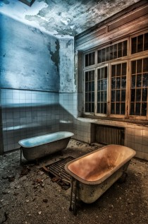 Abandoned psychiatric hospital in Cogoleto Liguria Italy