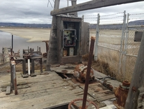 Abandoned Pump Station in the sinking ghost town of Drawbridge California