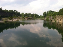 Abandoned quarry in Ravena NY Now used as a swimming hole