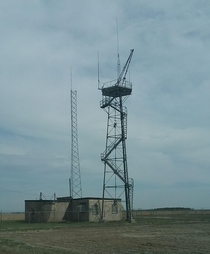 Abandoned radar station from the s in rural Iowa