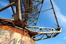 Abandoned radar tower   x